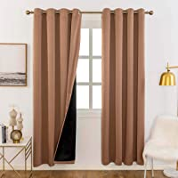 Home Brilliant Total Blackout Heavy Duty & Thick Window Treatment Curtains
