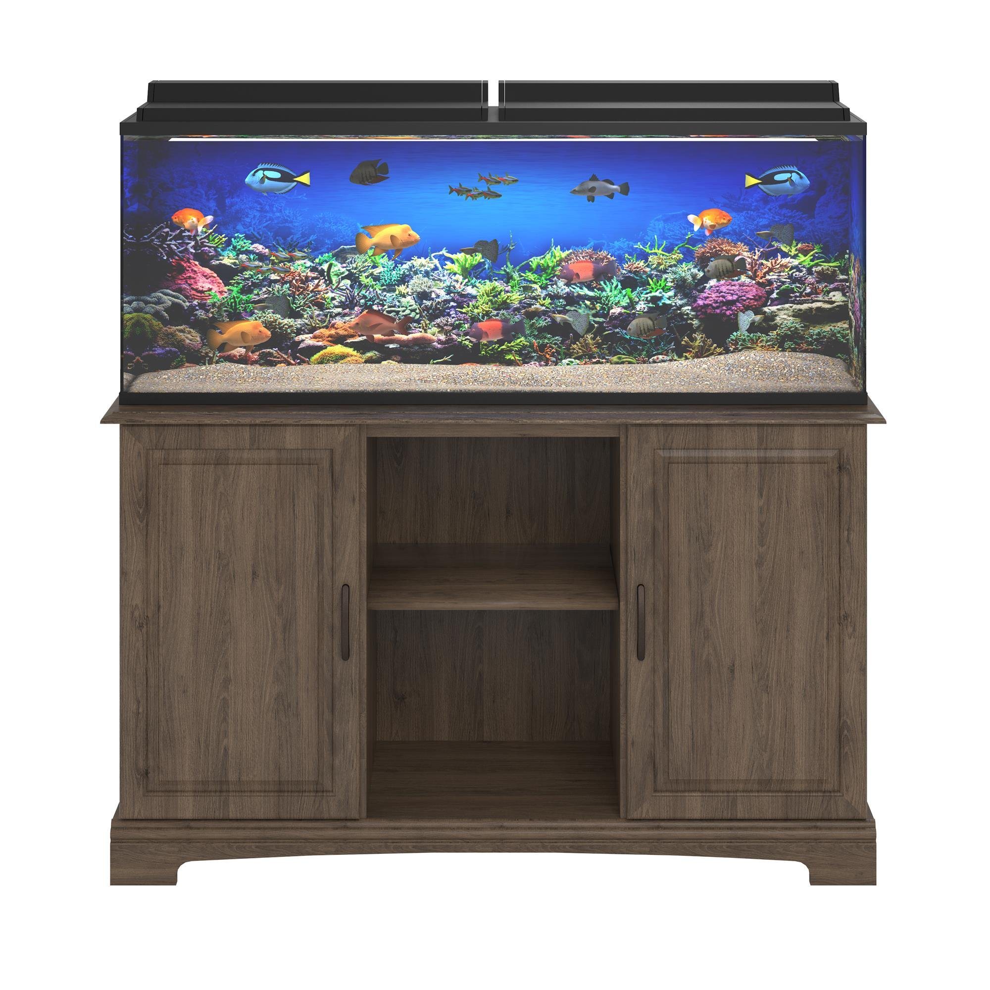 Ameriwood Home Harbor 50 - 75 Gallon Aquarium Stand, Rustic Oak by Ameriwood Home
