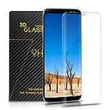 Samsung Galaxy S8 Panzerglas - SURWELL S8 Schutzfolie [1-Pack] 3D Full Coverage 99% Transparenz Full HD für Samsung Galaxy S8 (Transparent)