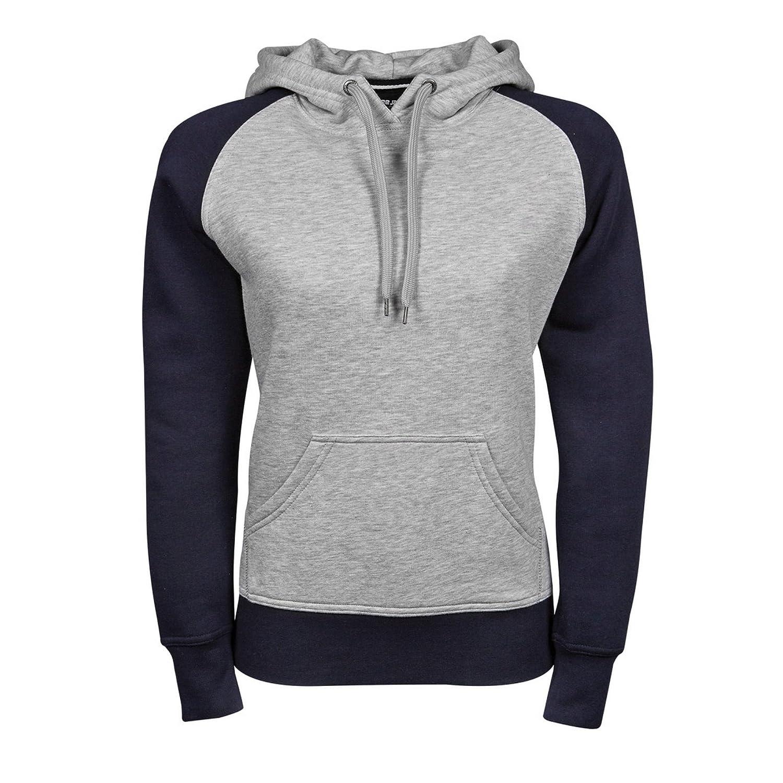 Tee Jays Womens/Ladies Two-Tone Hooded Sweatshirt at Amazon Womens Clothing store: