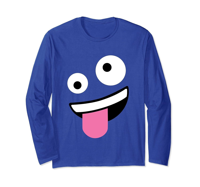 Wacky Emoji Face Halloween Costume T-Shirt Long Sleeve-mt