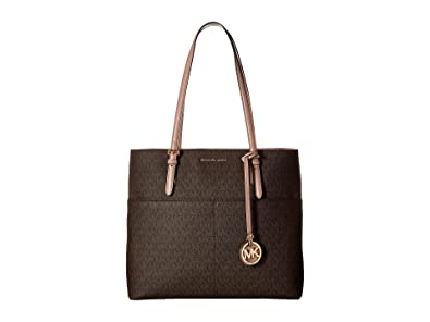 390225a262 Amazon.com  MICHAEL Michael Kors Bedford Large Pocket Tote Brown Fawn  Shoes