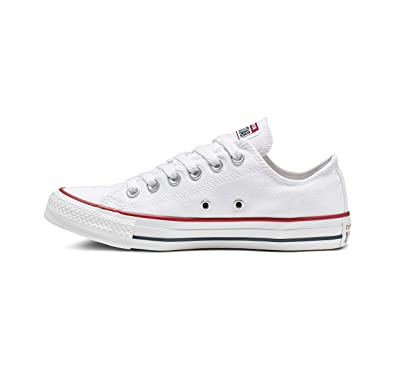 7cb4a515e353 Converse Unisex Chuck Taylor All Star Low Top Optical White Sneakers - 5 B(M