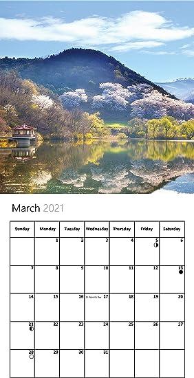 Our World Change Seasons 2021 Calendario da parete con scritta Nature
