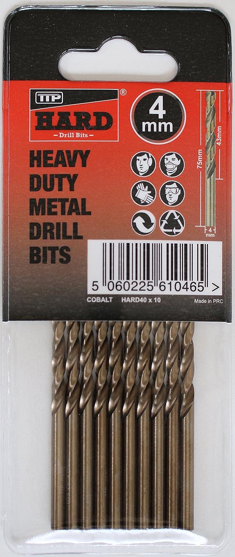 Brocas duro TTP 4 mm tubo de 10 bits mayor azul para taladrar metales má s acero inoxidable aluminio hierro fundido larga vida fá cil de usar mejores brocas para taladrar metal resistente se puede afilar