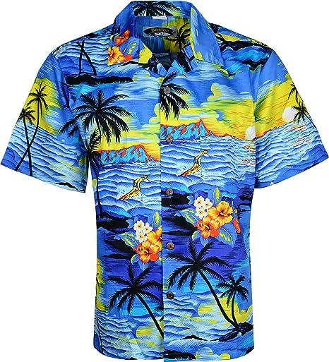 para Hombre Patrones de Costura para Camisas Hawaianas de Manga Corta Camiseta de Manga Corta Diseño de Playa de Flores: Amazon.es: Ropa y accesorios