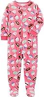 Carter's Girls' 12M-14 One Piece Cupcakes Fleece Pajamas