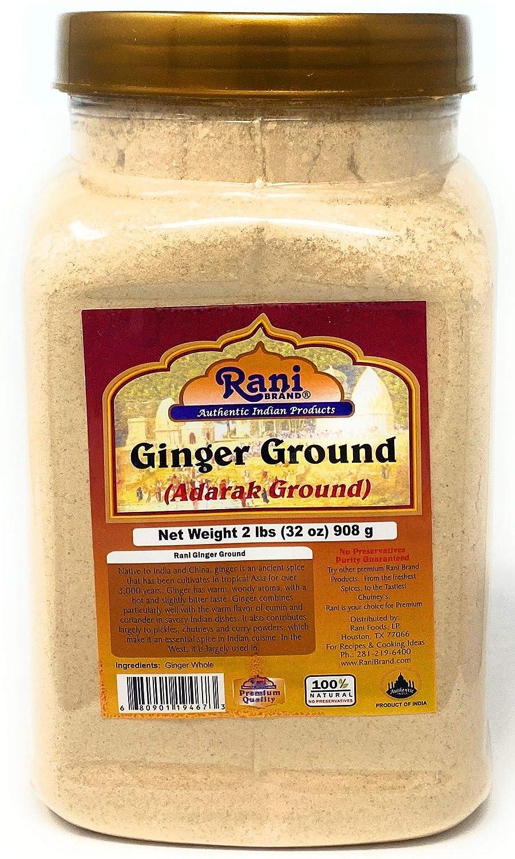 Rani Ginger (Adarak) Powder Ground, Spice 2lbs (908g) Bulk PET Jar ~ Natural | Vegan | Gluten Free Ingredients | NON-GMO | Indian Origin