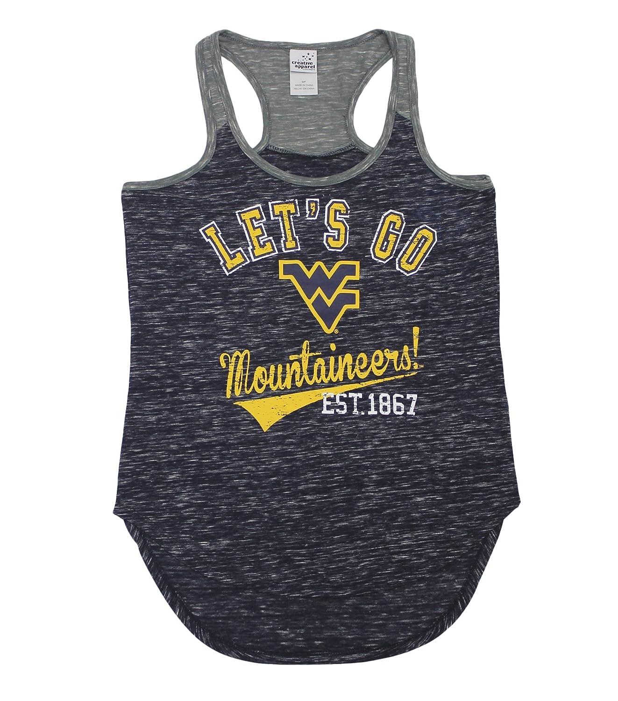 2cdcf6b7941 Creative Apparel Women  s West Virginia WVU Mountaineers Tank Top Shirt at  Amazon Women s Clothing store