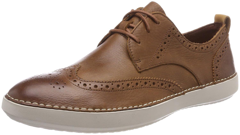 Clarks Komuter Run, Zapatos de Cordones Derby para Hombre 41.5 EU|Marrón (Tan Tumbled)