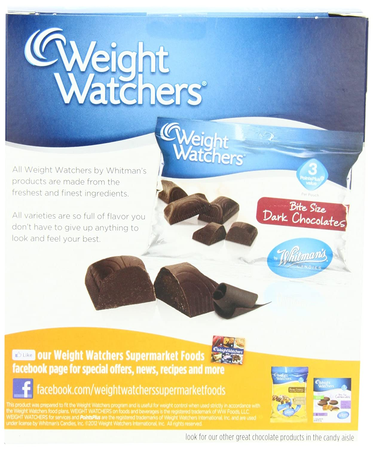 Amazon Com Whitman S Weight Watchers Bite Size Chocolates Solid