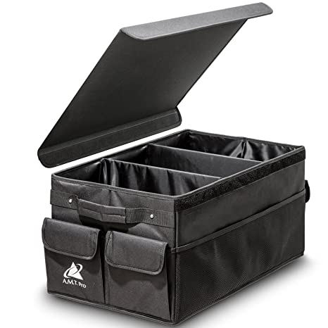 smart inspiration cd storage cases. Premium Foldable Car Trunk Organizer with Cover by amt Pro Smart Auto  Interior Storage Cargo Box Amazon com