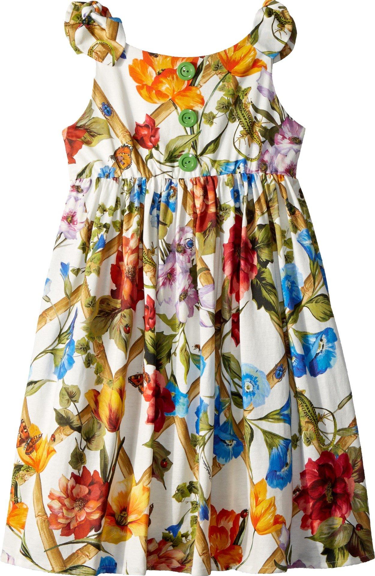 Dolce & Gabbana Kids Girl's Sleeveless Dress (Big Kids) White Print 10 by Dolce & Gabbana (Image #1)