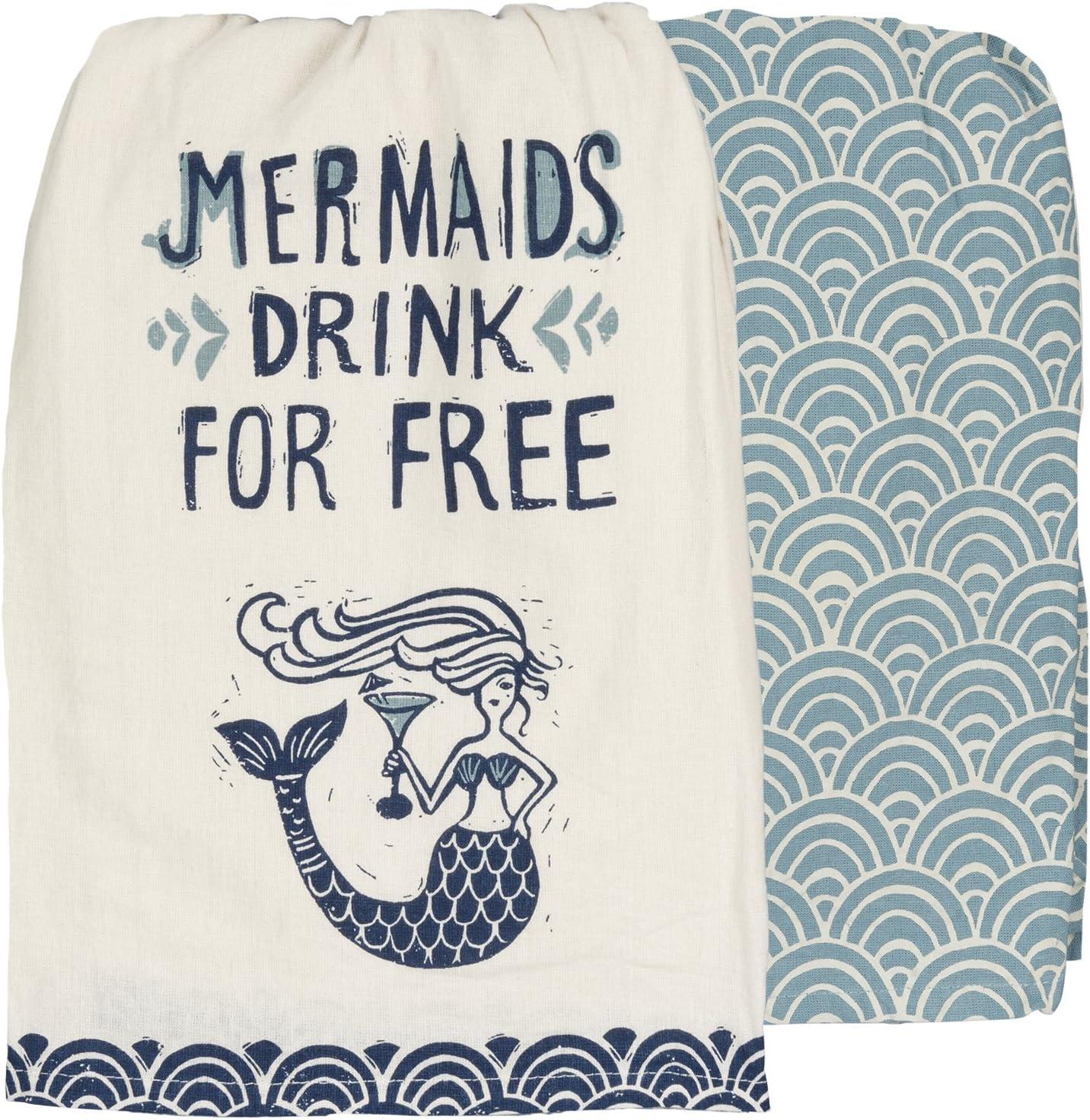 Reasons To Be A Mermaid Tea Towel Dish Cloth