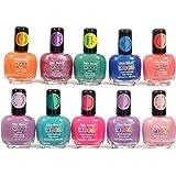 Mia Secret Mood Nail Lacquer Color Changing Nail Polish 10pc Set (10 Different Colors) Full Size Nail Polish