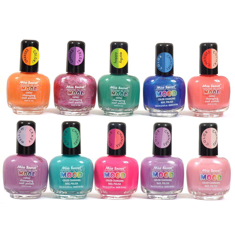Nail Polish Different Colors: Amazon.com : Mia Secret Mood Nail Lacquer Color Changing