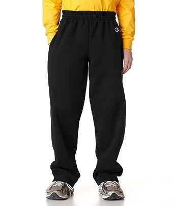 c776954d1 Champion Boys Powerblend Eco Fleece Sweatpant Sweatpants - Black -:  Amazon.co.uk: Clothing