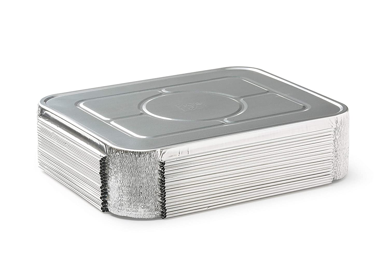 "Fig & Leaf (30 Pack) Premium Lids for Lasagna Pans 14"" x 10"" x 3"" Heavy Duty l 26 Gauge l Top Baker's Choice Disposable Aluminum Foil for Roasting Potluck Reheating Catering Party BBQ Baking"