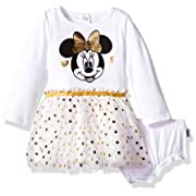 Disney Baby Girls' Minnie Mouse Tutu Dress and Diaper Cover Set, White, 12M
