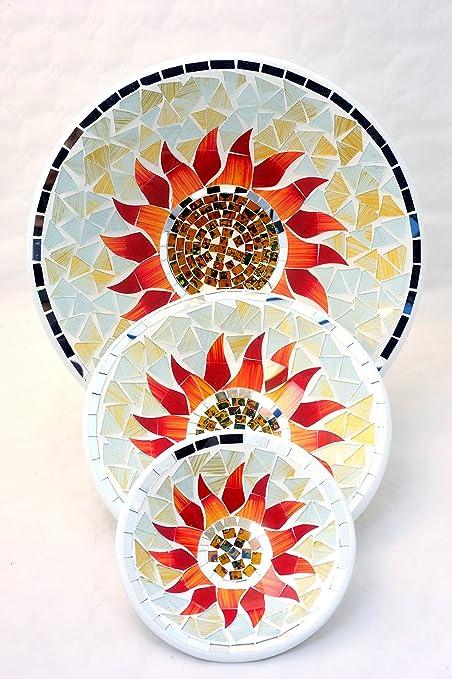 """Bandejas """"Elegance Mantel Puerta Decorativo Tríptico Fruta de barro hechas a mano con"""