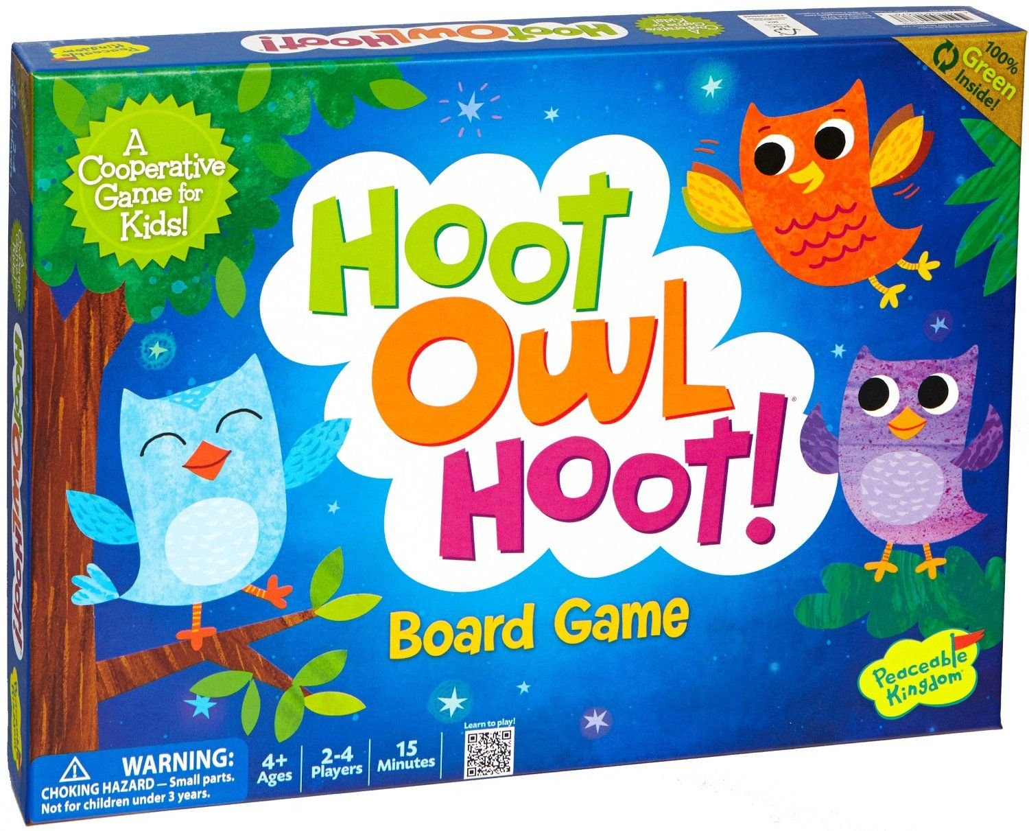 Peaceable Kingdom / Hoot Owl Hoot! Award Winning Cooperative Board Game product image