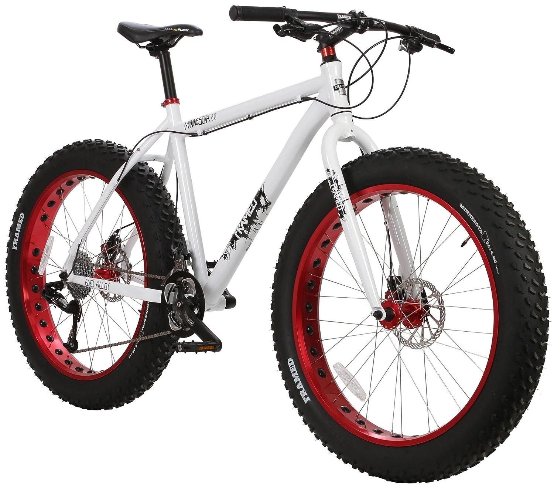 Amazon.com : Framed Minnesota 2.0 Fat Bike White/Red : Sports & Outdoors