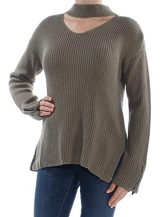 6d6161c614f59 Bar III Womens Wool Blend Long Sleeves Choker Sweater at Amazon ...