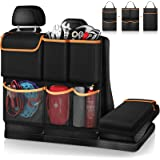 FINPAC Car Trunk Organizer, Detachable Seat Back Hanging Organizers Storage with Zippers, Large Capacity Car Accessories…