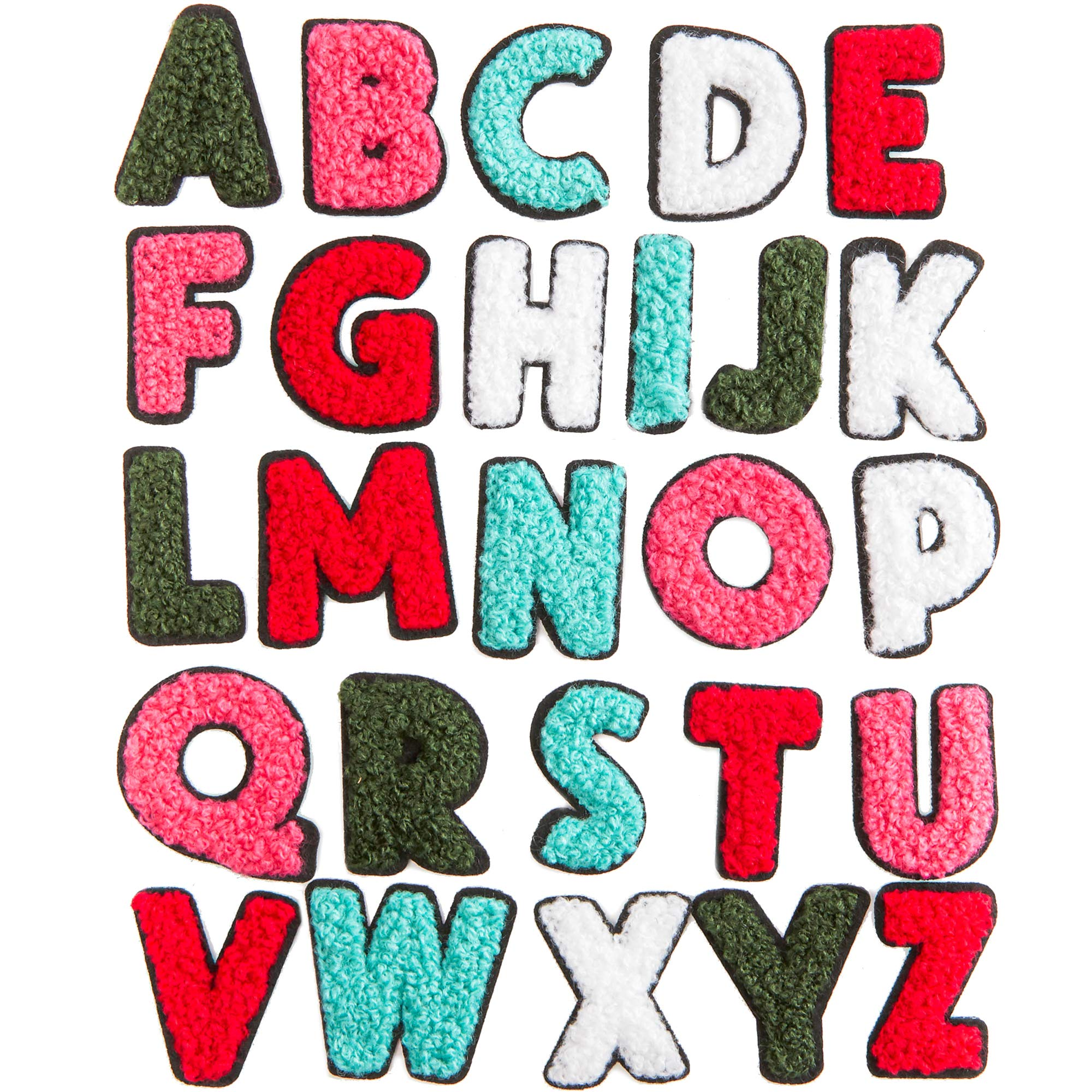 Iron On Patches, A-Z Patch Letters (1.4 x 1.3 in, 52 Pieces)