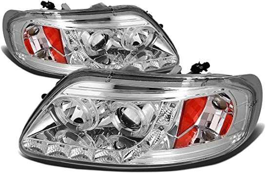 For 07-14 Ford Expedition OE Replacement Chrome Housing Amber Corner Headlight