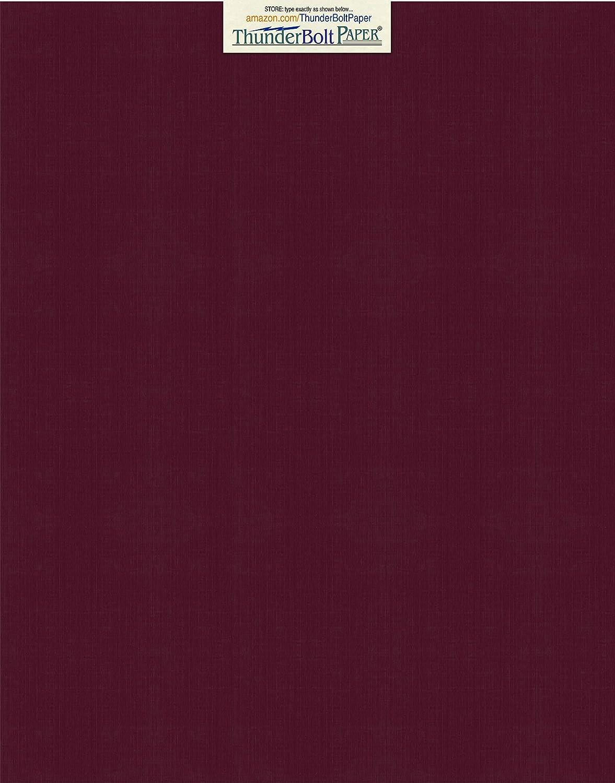 25枚 ダークバーガンディリネン 80# カバーペーパーシート – 11 X 14インチ (11 X 14インチ) スクラップブック | 写真フレームサイズ – 80ポンド/ポンド カード重量 – ファインリネンのテクスチャ仕上げ – ディープダイ品質カードストック。 B01JDXVLUW