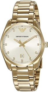 599c5bf757 Amazon.com  Emporio Armani Women s AR1909 Retro Rose Gold Watch ...