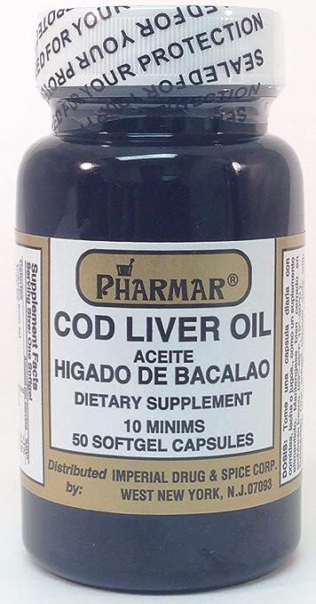 Aceite De Higado De Bacalao Capsules 50s Cod Liver Oil