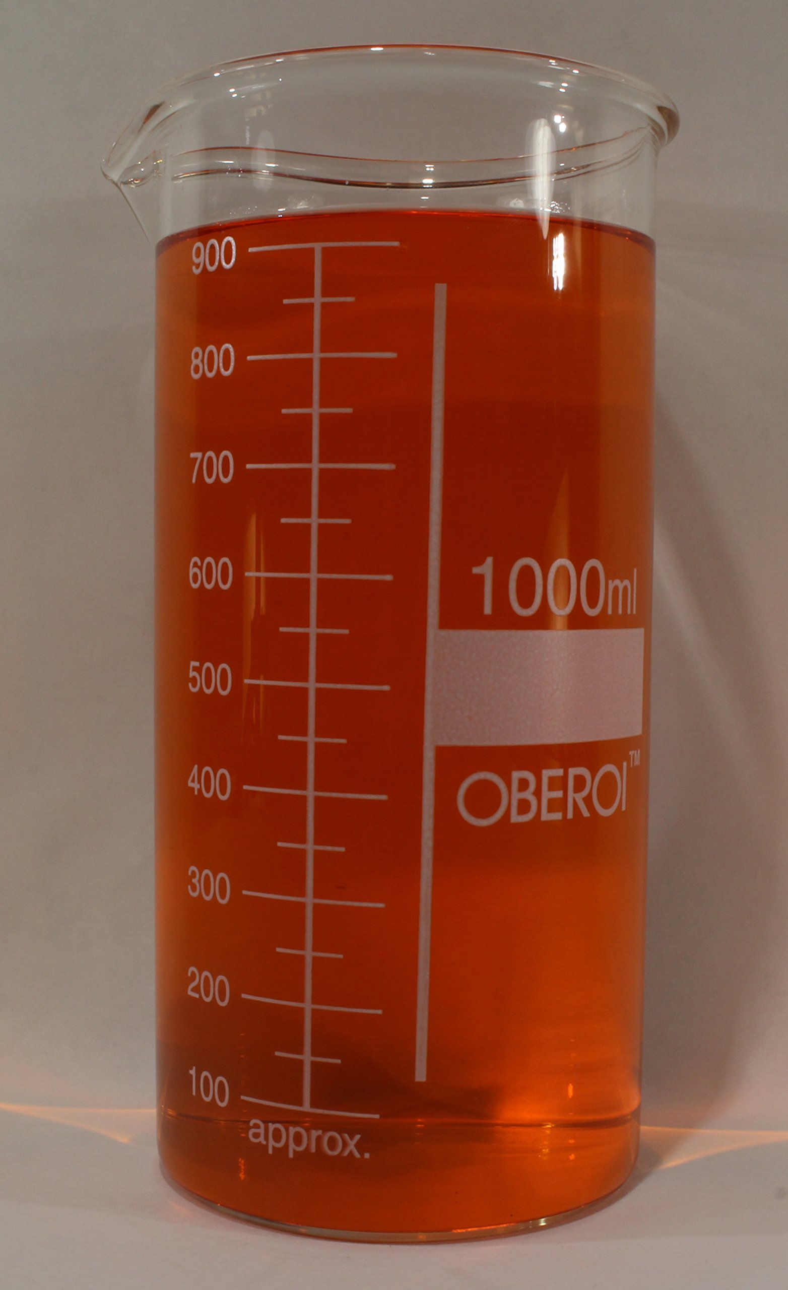 1000 ml Glass Beaker, Tall Form, Graduated, with Spout