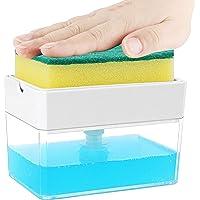 Albayrak Soap Dispenser for Kitchen + Sponge Holder 2-in-1 – Innovative Designed - Premium Quality Dish Soap Dispenser…