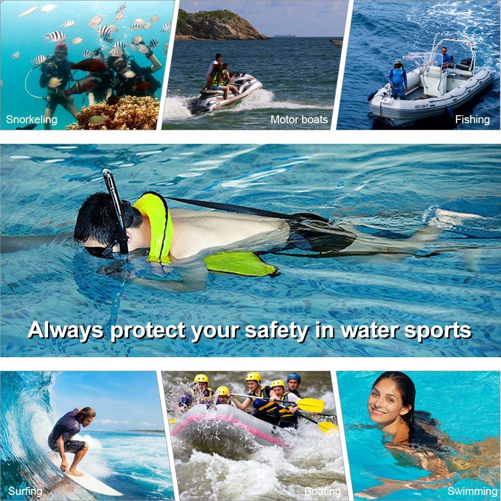LOBKIN Men/Women Snorkel Vest Adult Inflatable Snorkeling Jacket Diving Swimming Safety Jacket (Green)