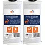"""2-PACK Of 5 Micron Big Blue Coconut Shell Carbon Block Water Filter Cartridge 10"""" x 4.5"""" by Aquaboon"""