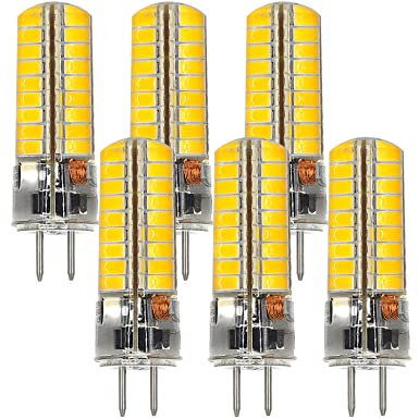 MENGS® 6 Stück GY6.35 6W LED Lampe 72x5730 SMD Warmweiß 3000K AC/DC 12V Mit Silikon Mantel