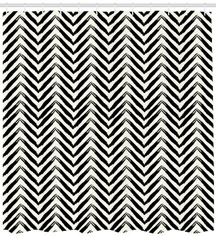 Ethnic cortina de ducha por lunarable, Tribal flechas con líneas en ángulo con pinceladas Grunge