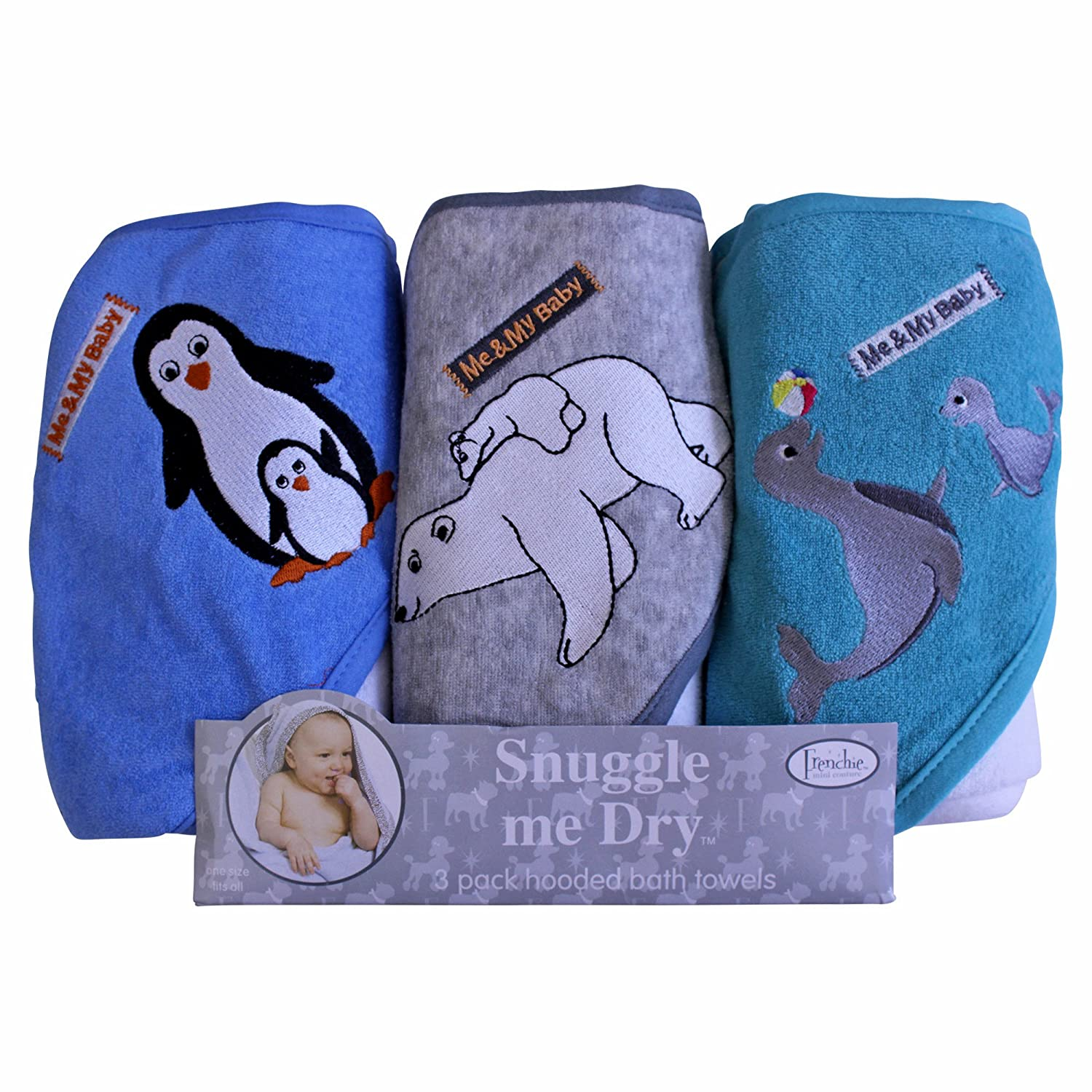 Wild Animal Hooded Bath Towel Set Frenchie Mini Couture Girl 3 Pack