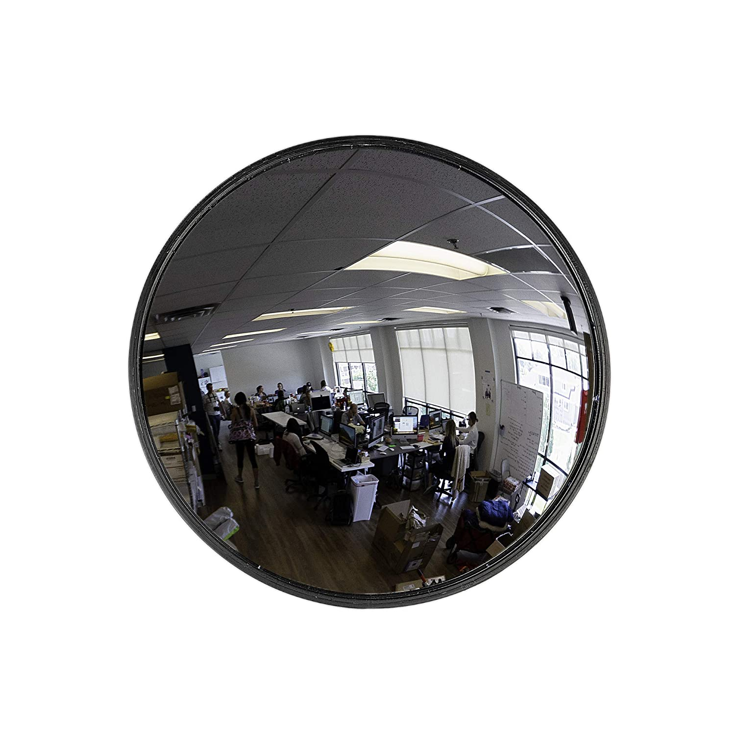 """12"""" Acrylic Convex Mirror, Round Indoor Security Mirror for the Garage Blind Spot, Store Safety, Warehouse Side View, and More, Circular Wall Mirror for Personal or Office Use - Vision Metalizers"""