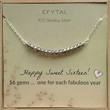 Personalized Sweet Sixteen Necklace  Sweet 16 Gift  Personalized Jewelry For 16th Birthday  Sweet 16 Necklace For Daughter Birthday 16