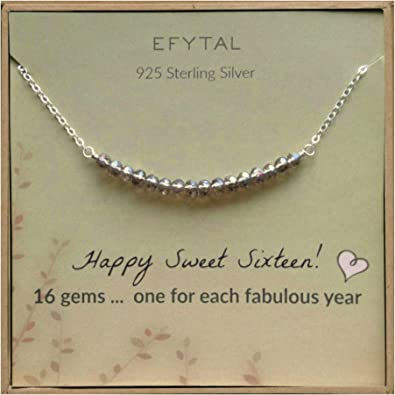 Amazon Com Efytal 16th Birthday Gifts For Girls Sterling Silver