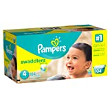 Amazon Price History for:Pampers Swaddlers Diaper Size 4 Giant Pack 104 Count