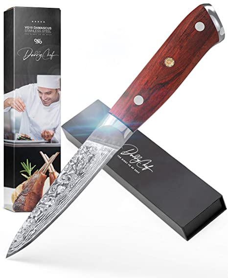 Amazon.com: Daddy Chef Damasco - Cuchillo de chef de acero ...
