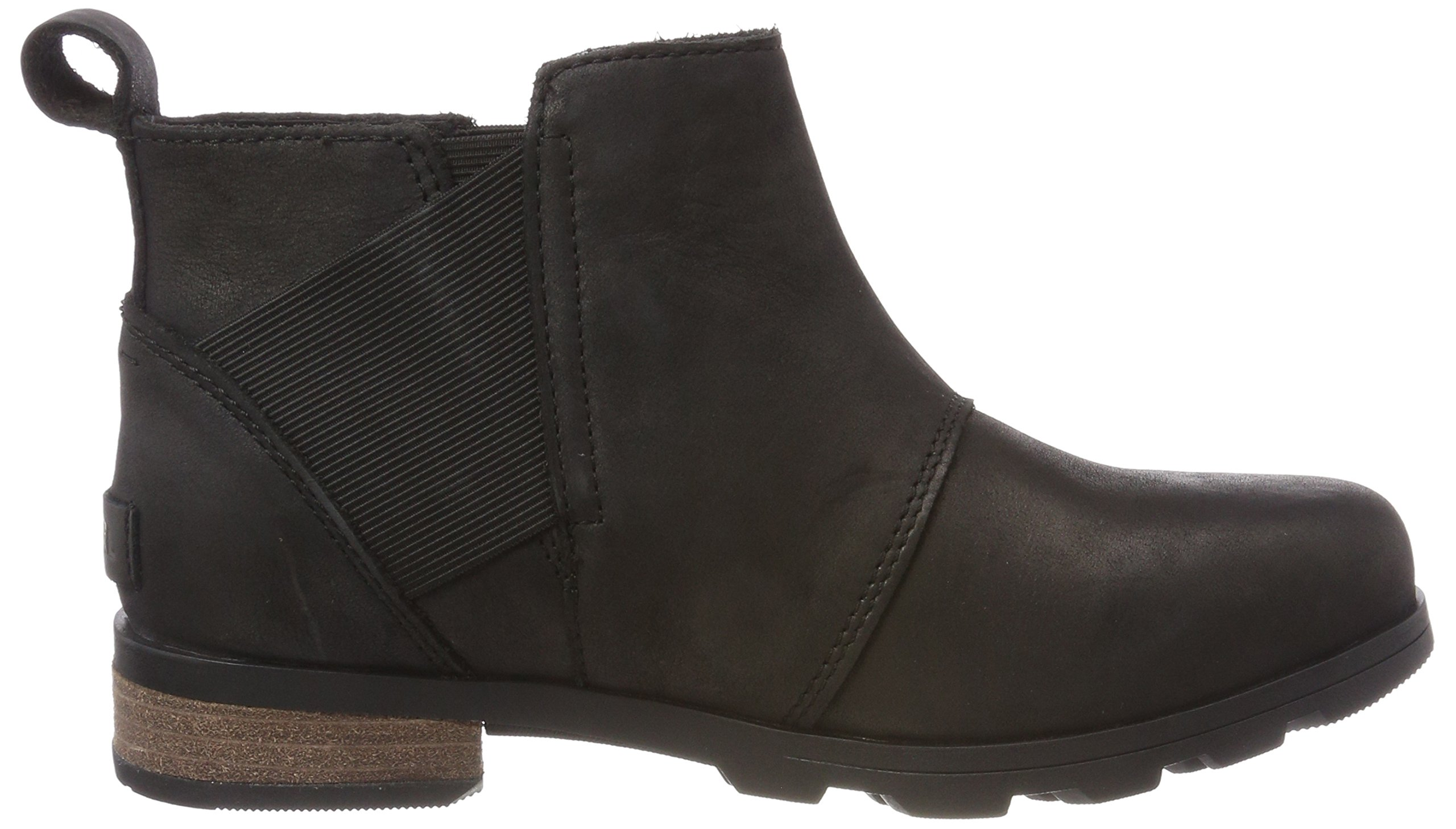 Sorel Womens Emelie Chelsea Black Boot - 8 by SOREL (Image #6)