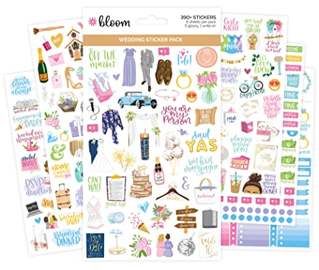 Amazon.com: Bloom Planner pegatinas: Office Products