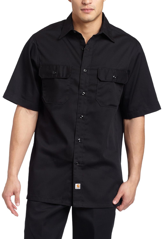 CarharttメンズBig & Tall Twill Short Sleeve Work Shirtボタンフロント B003LO1ZMY 3L ブラック ブラック 3L