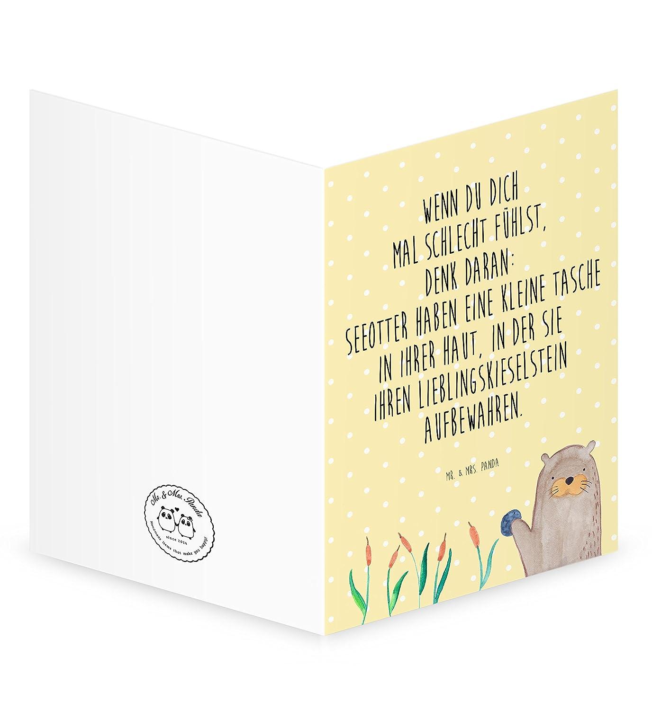 Amazon.de: Mr. & Mrs. Panda Grußkarte Otter mit Stein - 100 ...