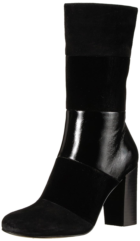 The Fix Women's Skylar Mid-Shaft Material-Block Fashion Boot B074JP87JS 8 B(M) US|Black Mixed Material